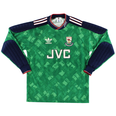 1990-91 Arsenal 'Champions' Goalkeeper Shirt M