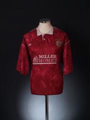 1990-91 Hearts Home Shirt L