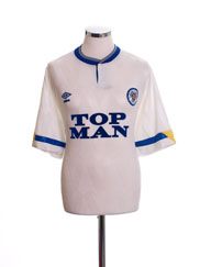 1990-91 Leeds Home Shirt L