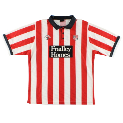1990-91 Stoke City Home Shirt L