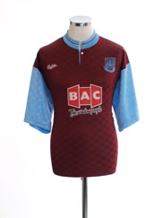1990-91 West Ham Home Shirt *Mint* M