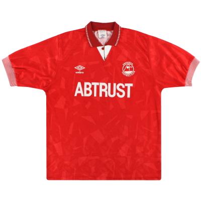 1990-92 Aberdeen Umbro Home Shirt L