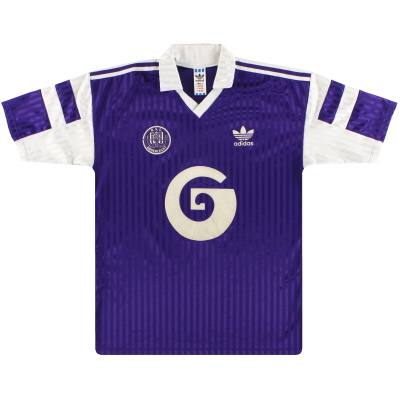1990-92 Anderlecht adidas Away Shirt L