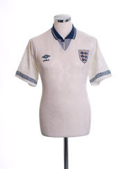 1990-92 England Home Shirt M