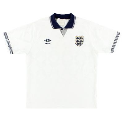 1990-92 England Home Shirt S