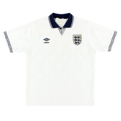 1990-92 England Umbro Home Shirt L