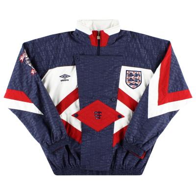 1990-92 England Umbro Woven Track Jacket M