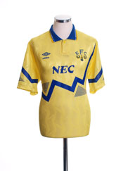 1990-92 Everton Away Shirt S