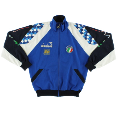 1990-92 Italy Diadora Player Issue Track Jacket XL