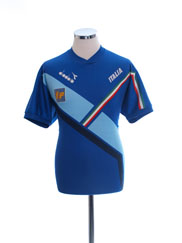 1990-92 Italy Player Issue Diadora Training Shirt #17 L