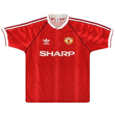 1990-92 Manchester United adidas Home Shirt XS