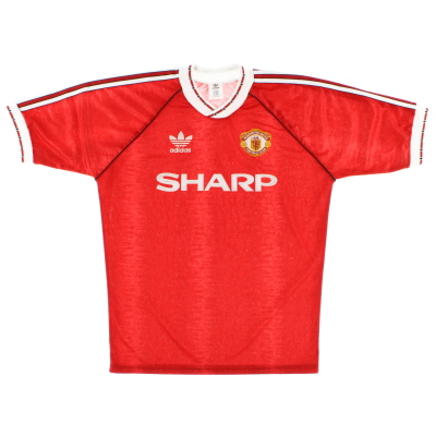 1990-92 Manchester United adidas Home Shirt L