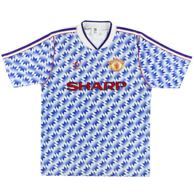 1990-92 Manchester United adidas Away Shirt L