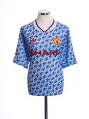 1990-92 Manchester United Away Shirt L