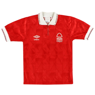 1990-92 Nottingham Forest Umbro Home Shirt Y