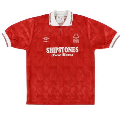 1990-92 Nottingham Forest Home Shirt L