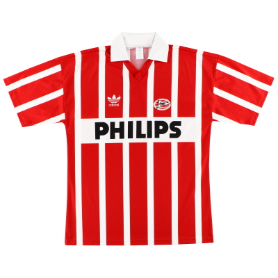1990-92 PSV Eindhoven adidas Home Shirt #9 (Romario) *Mint* L