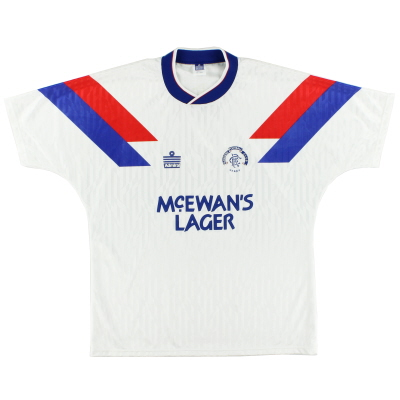 1990-92 Rangers Away Shirt *Mint* XL