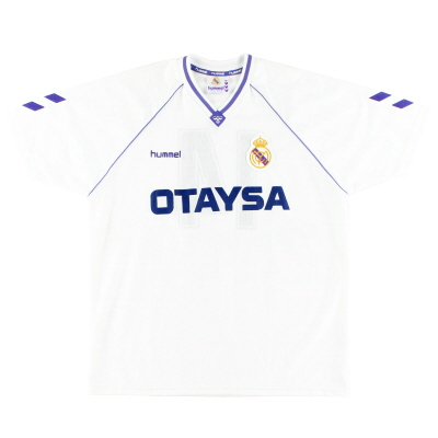 1990-92 Real Madrid Match Issue Home Shirt #14 XL