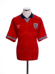 1990-93 England Away Shirt L