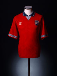 1990-93 England Away Shirt M