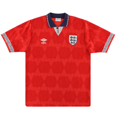 1990-93 England Umbro Away Shirt L