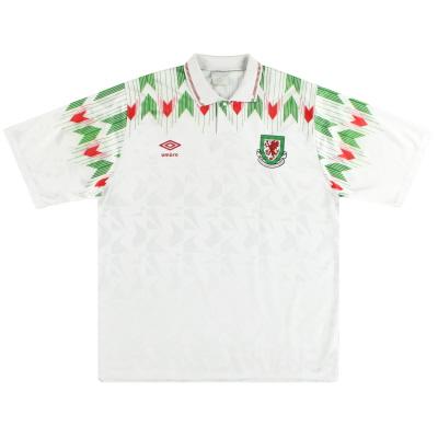 1990-93 Wales Umbro Away Shirt L