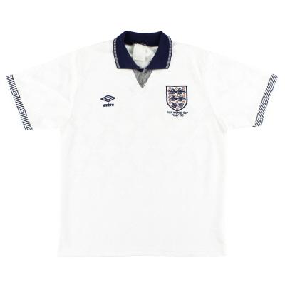 1990 England Umbro 'Italy '90' Home Shirt L