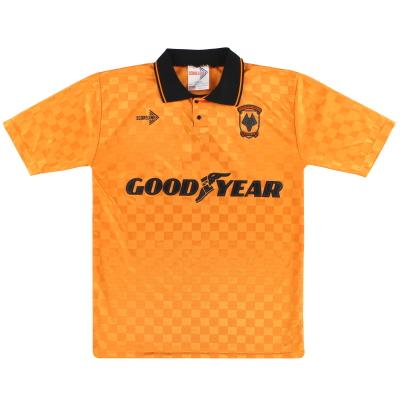 1990 Wolves Scoreline Home Shirt M