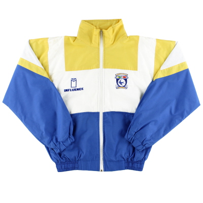 1991-92 Cardiff City Influence Track Jacket *As New* L