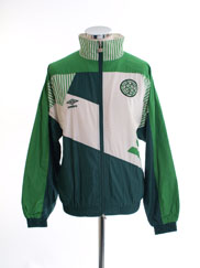1991-92 Celtic Player Issue Woven Presentation Jacket S