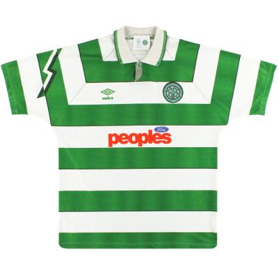 1991-92 Celtic Umbro Home Shirt XL