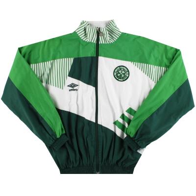 1991-92 Celtic Umbro Player Issue Presentation Jacket L