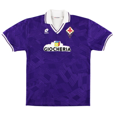 1991-92 Fiorentina Match Issue Home Shirt #2 XL