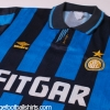 1991-92 Inter Milan Match Issue Home Shirt #6 L/S L