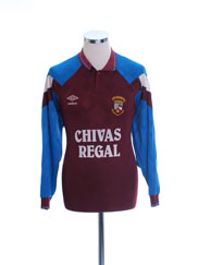 1991-92 Keith FC Match Issue Home Shirt #4 L/S L