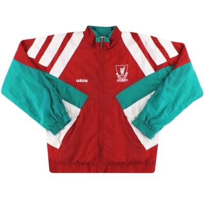 1991-92 Liverpool adidas Shell Jacket L