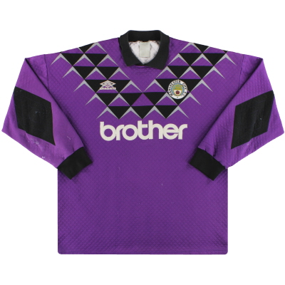 1991-92 Manchester City Umbro Goalkeeper Shirt #1 XXL