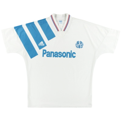 1991-92 Olympique Marseille adidas Home Shirt L/XL