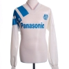 1991-92 Olympique Marseille Home Shirt #9 L/S L