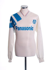 1991-92 Olympique Marseille Home Shirt L/S XL