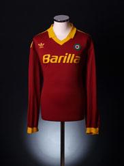 1991-92 Roma Home Shirt L/S XL