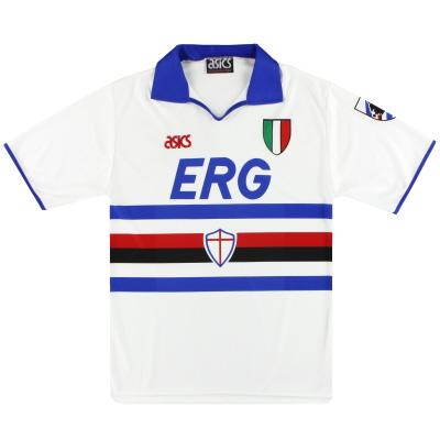 1991-92 Sampdoria Asics Away Shirt *Mint* M