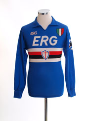 1991-92 Sampdoria Home Shirt L/S S