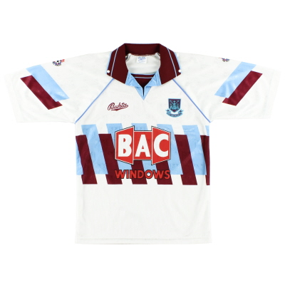 1991-92 West Ham Third Shirt *Mint* S