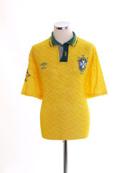 1991-93 Brazil Home Shirt L.Boys