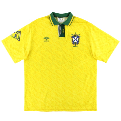 1991-93 Brazil Umbro Home Shirt L
