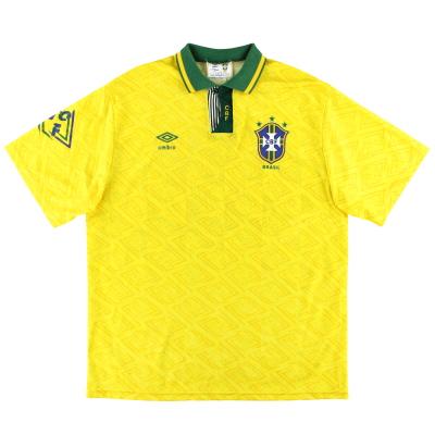 1991-93 Brazil Umbro Home Shirt XL
