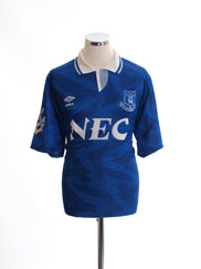 1991-93 Everton Home Shirt L