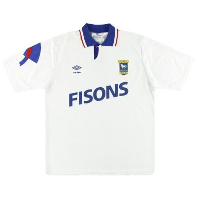 1991-93 Ipswich Umbro Away Shirt L
